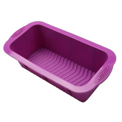 "Silicone Bakeware Mould Bread Loaf Pan Tin Bake Bread Cake 10"" X 5"",purple"