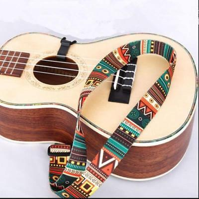 New Adjustable Classical Nylon Ukulele Strap Sling Colorful Guitar Accessories F