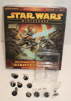 Star Wars Miniatures Revenge Of The Sith Starter Game Incomplete Wizards Figures