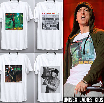 LL Cool J T Shirt As Worn By EMINEM Bigger and Deffer BAD Album cover rap hiphop