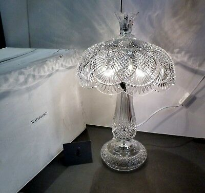 """*NEW* Waterford Crystal SEAHORSE (2002-) Electric Table Lamp 22"""" NEW IN THE BOX"""