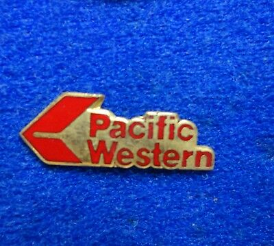 RARE Old Pacific Western Airlines Red Logo Aviation Plane Air Canada Lapel Pin z