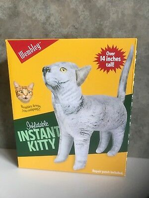 """WEMBLEY Inflatable Instant KITTY / MSRP $28 / 14"""" Tall / LAUGHS & CONVERSATION"""