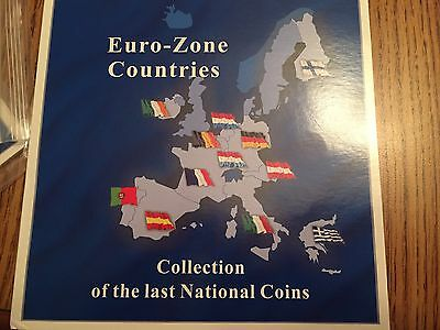 Euro Zone Countries Collection Of Last National Coins 12 Set