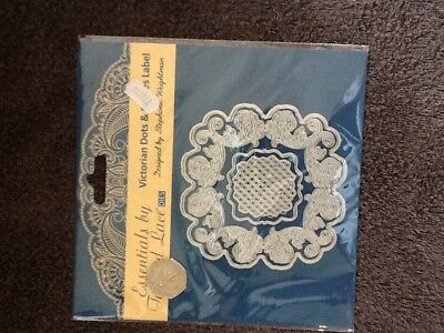 Tattered Lace Die Cut Victorian Dots /& Stripes Label
