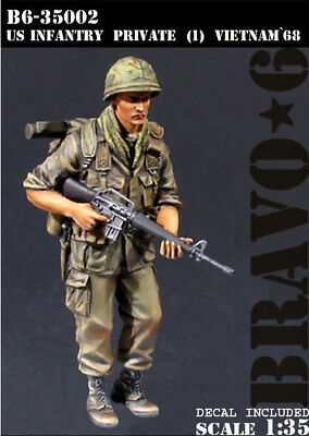 Bravo6 1:35 US Infantry Private #1 Vietnam War '68 Resin Figure #B6-35002