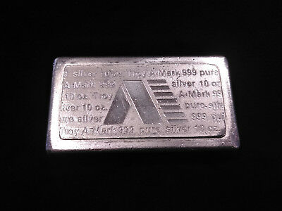A-Mark 10oz .999 Fine Silver Bar **STACKER** Serial No. 791