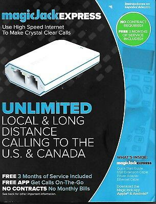 MagicJack EXPRESS Digital Phone service + 3 Months unlimited local/long distance
