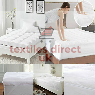 4'' Supersoft Thick Microfiber Mattress Topper/Matress Protecter With All Sizes