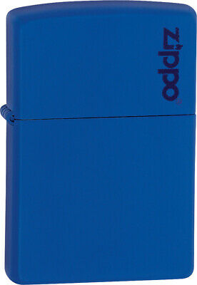 Zippo Lighter Logo Lighter Royal Blue Matte Windproof USA 11344