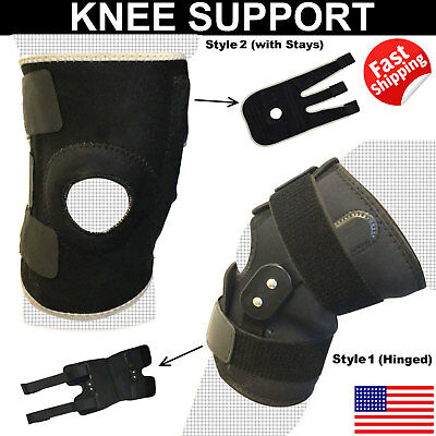 Knee Wraps FDA Registered Reduce Pain Relief Protector Open-Patella Hinged Brace