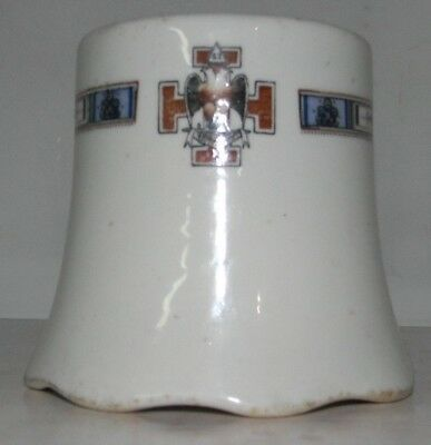 VINTAGE MASONIC DOUBLE EAGLE NO 32 SPES MEA IN DEO EST Buffalo China Cup RARE