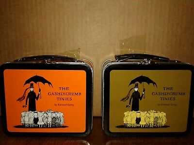 The Gashlycrumb Tinies by Edward Gorey Mini Metal Lunch Box Green BRAND NEW !