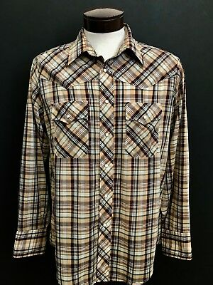 Vintage Sundance 80's Mens Rockabilly Western Shirt, Size L ,made In Usa
