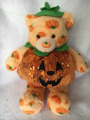Build a Bear Teddy BABW Pumpkin Halloween Costume and Plush Stuffed Animal & BUILD A BEAR Teddy BABW Pumpkin Halloween Costume and Plush Stuffed ...