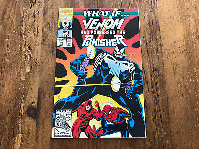What If...? #44 (1992, Marvel) NM Venom had Possessed the Punisher? Spider-Man !