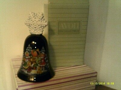 VTG1987 Avon CHRISTMAS BELL Porcelain W/22 KT GOLD TRIM NEW IN BOX-FREE SHIPPING