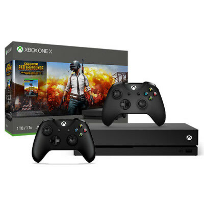 Xbox One X 1TB PUBG Console Bundle + Extra Xbox Wireless Controller