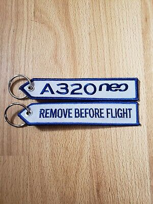 Keyring A320 NEO Remove Before Flight keychain for pilot Hawaii