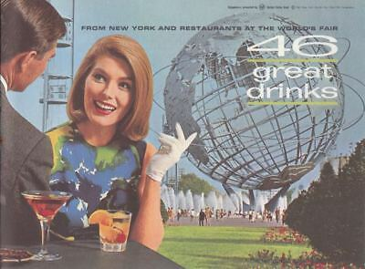 46 Great Drinks Booklet -1965 New York World's Fair Drink Mixing Recipes
