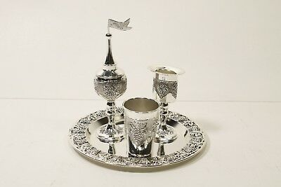 Legacy Grapes Motifs Silver Plated 4 Piece Havdalah S Does not apply - Preowned