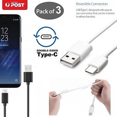 3x Type-C USB-C Male Data Snyc Charger Charging Cable For Samsung Galaxy S9 S8 +