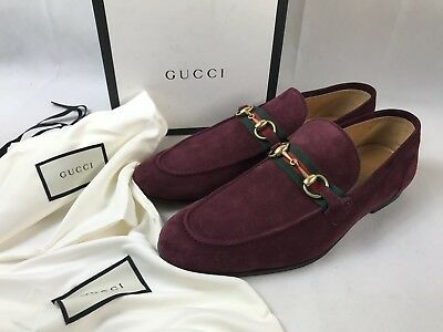 8a01e587f99 GUCCI HORSEBIT SUEDE Moccasins Loafer with Web Men s Size 9G   10US ...