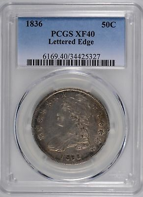 1836 Capped Bust Half Dollar Lettered Edge PCGS XF-40 #182244