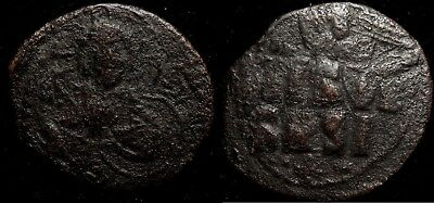 MORTOWN Constantine X, follis 1059-1067 AD Two Portraits Stamped on Obverse!