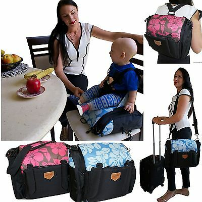 Change Baby Bag Travel Nappy Backpack Portable Bed Cot Booster Seat High Chair