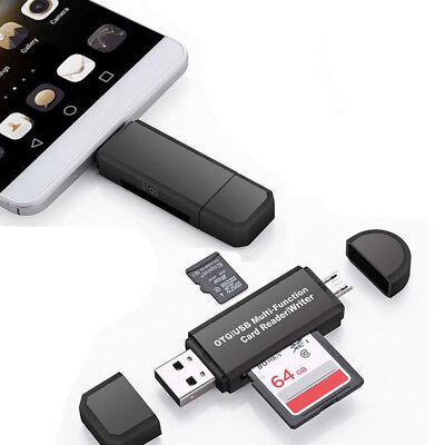 Micro USB OTG to USB 2.0 Adapter SD TF Micro Card Reader For PC Mobile Phone