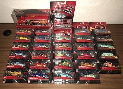 New Disney Pixar Cars 3 Lot Of 30 Different Mattel Diecast Vehicles!