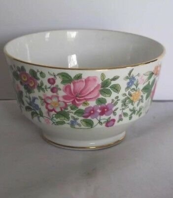 """Crown Staffordshire Thousand Flowers F7117, 5 """" BOWL"""