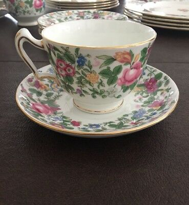 Crown Staffordshire Thousand Flowers F7117, Cup And Saucer, MULTIPLE AVAILABLE
