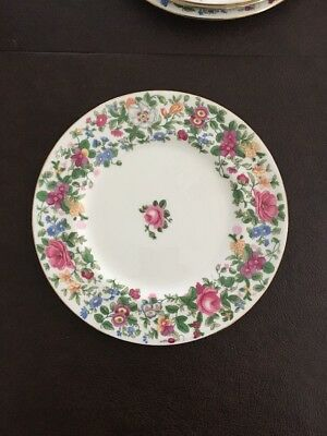 """Crown Staffordshire Thousand Flowers F7117, 8.25"""" Plate , MULTIPLE AVAILABLE"""