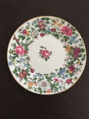 """Crown Staffordshire Thousand Flowers F7117, 6 3/8"""" Plate , MULTIPLE AVAILABLE"""