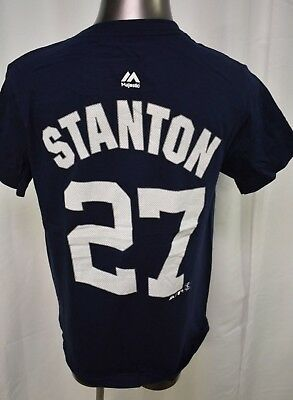 pretty nice 42126 99203 MAJESTIC MLB YOUTH Boys New York Yankees Giancarlo Stanton Shirt LOOK  S,M,L,XL