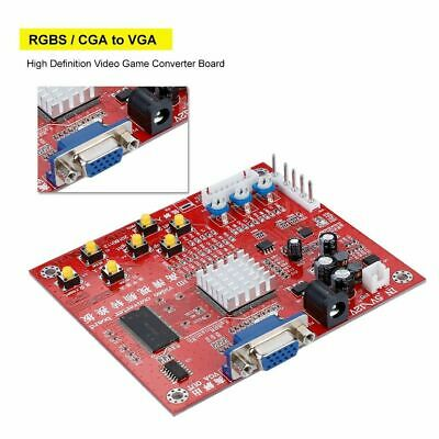High Definition Video Converter Board RGBS/CGA to VGA Arcade Game 15K 24K 31K
