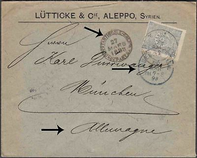 Syria Aleppo Printed Cover To Munich Germany