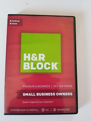 H&R Block Premium & Business Tax Software Small Business Owners 2017 Brand New