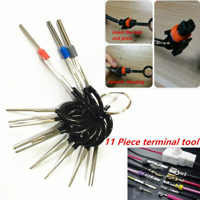 11Pcs Connector Pin Extractor Terminal Removal Tool Car Electrical Wiring Crimp