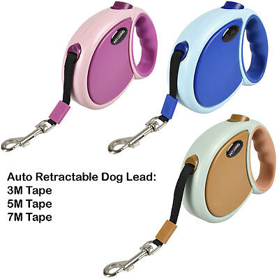 Pet Living Strong Retractable Branded Extendable Lockable Dog Lead Leash Tape