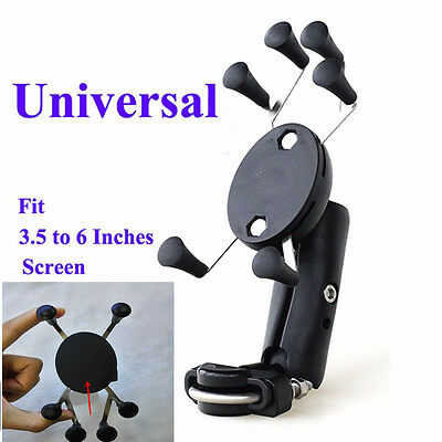 X-Shape 6 Feet Motorcycle MTB Bike Bicycle Handlebar Mount Holder For Cell Phone