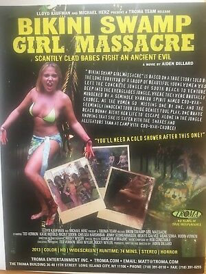 Bikini Swamp Girl Massacre And 30 Girls In 30 Days, TROMA 2 Sided Poster A4