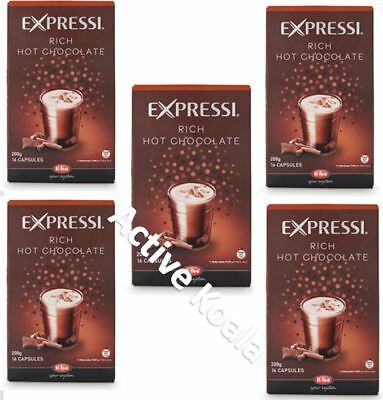 80 Capsules (5 boxes) Aldi Expressi Rich Hot Chocolate Pods