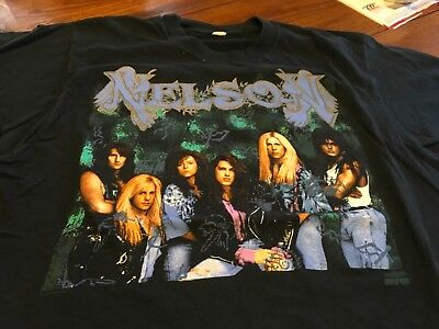 NELSON ORIGINAL Large  2 Sided Tour T-Shirt 80's Hair Metal