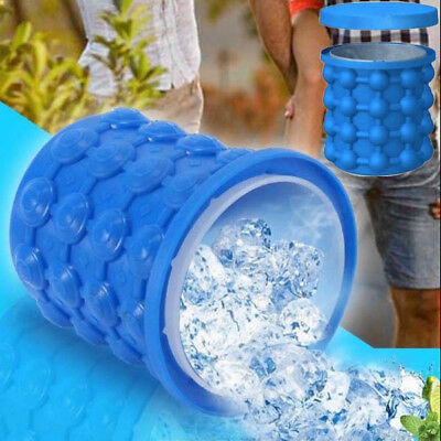 120 Ice Cube Maker Bucket Silicone Genie Revolutionary Magic Tool Space Saving