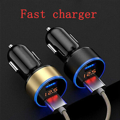 Fast Charging Car Charger Dual USB 3.1A With LED Display For Mobile Phone Top