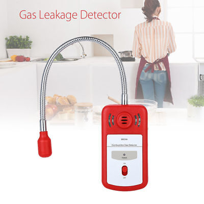 Combustible Gas Leakage Detector Sniffer Sound Light Alarm General Red Portable