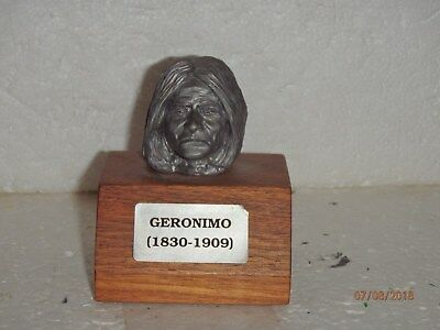 Ron Hinote Pewter Bust Series Apache Indian Chief Geronimo 1830 - 1909 RARE